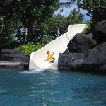 Pool waterslide