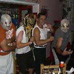 memo and the workers letm e wear their luchador mask