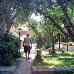 Me in the Rocette Mare garden where all the bungalows are situated