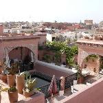 vue Riad pris de la terrasse