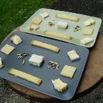 A selection of cheeses - one of many options for breakfast