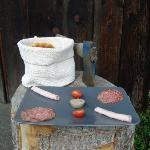 Some cold cuts of meat (the axe is not part of breakfast!)