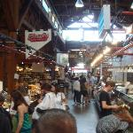 Inside the public market at Granville Island