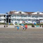 The hotel from the beach