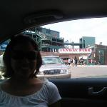 red sox game - we just passed by :)