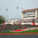 The stadium prior to the procession