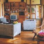 TV-Lounge in der Villa Rosa