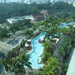 View from room to pool