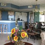 Large living room/dining room & kitchen area