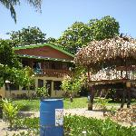 Das Haus vo Strand aus
