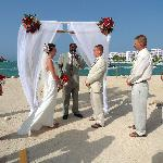 Our ceremony at West End Beach