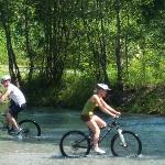 Mountain bike tour - we were allowed to cycle in a small lake!