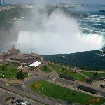 A view of the Horseshoe Falls from room.