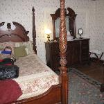 Main bedroom and four-poster bed
