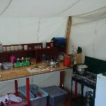 The kitchen tent