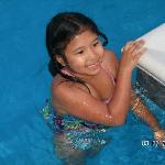 Kid's LOVE the pool-warm & clean.