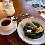 Nice afternoon tea at villa