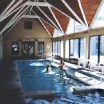 The indoor pool and spa