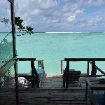 The view from water villa 528.