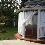 Hot Tub in private gazebo
