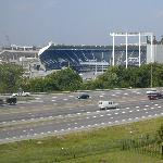 View of Kauffman Stadium from our 5th floor room window