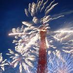 Le feu d'artifice du 14 juillet sur la tour Eiffel