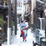 A real geisha at last - who smiled at my excitement!