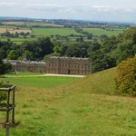 View on Dyrham Park with Bristol in the background
