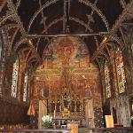 The Basilica of the Holy Blood in Bruges.  So ornate and beautiful, it was worth being chastised