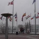Plaza de las banderas Calgary Canada (sede olimpica)
