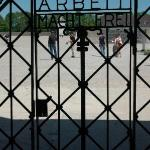 """This is the front gate from Dachau.  It says """"work makes you free,"""" but we all know that was a l"""