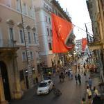 Via del Corso e P. del Popolo dalla camera doppia