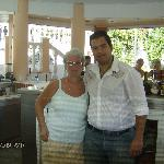 Sue & Yiannis at the bar