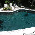la relajante piscina