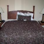 Queen Bed & Comfy Plush Linens