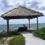 hut on the island
