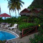 Hummingbird Resort pool and rooms 1-3