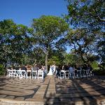 the labyrinth in April was a great place for the ceremony