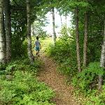 kids running to the shore Mooselook Lake