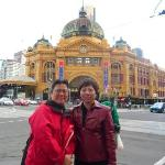 With Amy outside Flinder Station, 25 Apr 09