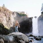 Hoppin' in Snoqualmie Fall, Washington