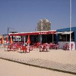 Good beach cafe only 200m from hotel