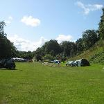 The campsite looking towards valley