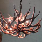 The chandelier greeting you