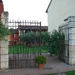 The courtyard entrance. There's also a larger, sturider automatic gate at the driveway entrance.
