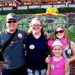 My family at Disneyland