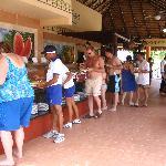 Buffet de la plage, on peut aussi y déjeuner