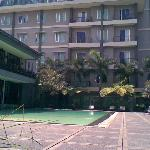 pool & front facade