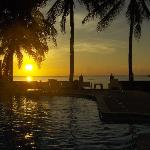 Sunset view from the pool