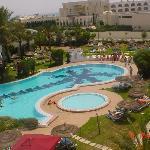 piscine vu des chambres